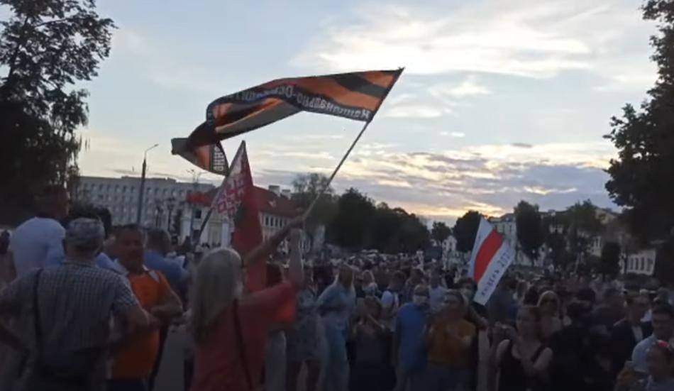 Бесноватые у вечного огня. Протестуны в Гродно 24.08.2020г.