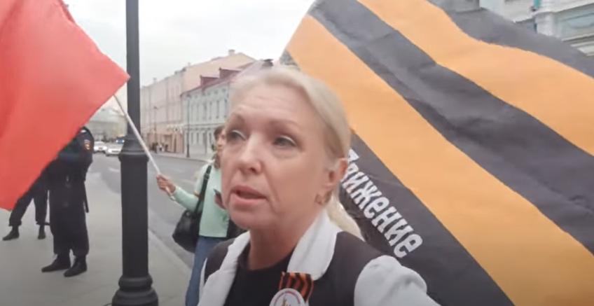 Протестуны у Посольства Белоруссии в Москве