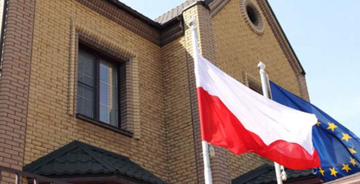 Пикет НОД у консульства Польши в Гродно